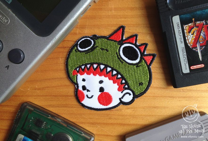 © VforViu (Violeta Serratosa). All Rights Reserved. Kawaii Dragon Kid Patch